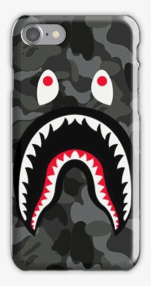 aef06f1a9854 Bape Shark Black Army Iphone 7 Snap Case - Bape Case Iphone 6s Plus