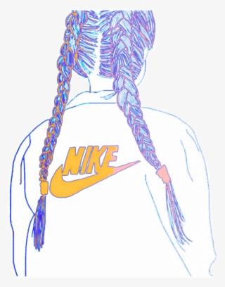 ab7e117f79ed2  freetoedit  remix  nike  logo  girl  drawing  colorful - Nike