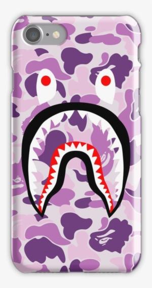 9fe6e07170ba Shark Purple Bape Iphone 7 Snap Case - Bape
