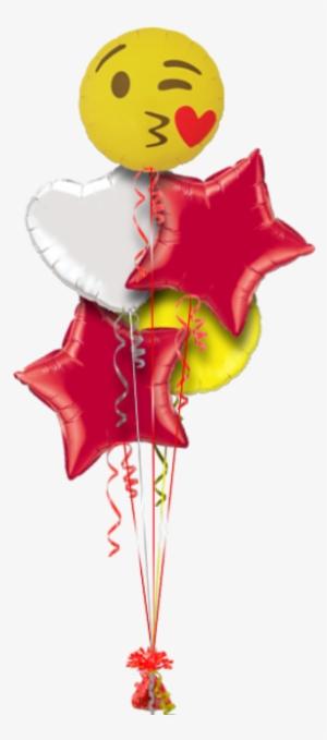Emoji Kissing Heart Valentines Balloon