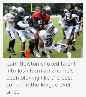 Cam Newton Png - Cam Newton Heisman Pose - 595x1023 PNG