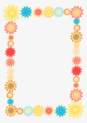 8786b048105 Free Digital Scrapbooking Flower Frame - Colorful Flower Frames