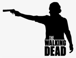0b0a9bec Pegatina Walking Dead Rick Grimes - Silhouette The Walking Dead Rick Grimes