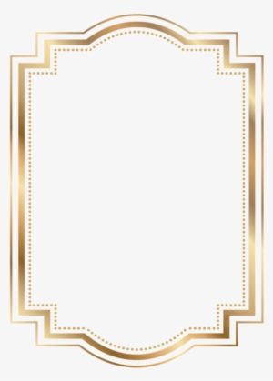 5038def902d Border Frame Gold Transparent Clip Art Borders And - Gold Border Frame Png