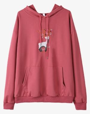 5091bd5450d8 Buy Women s Hoodie Hooded Long Sleeve Little Fawn Embroidery - Hoodie