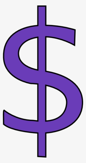 Dollar sign purple. Clipart png free hd