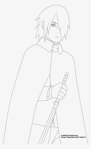 Sasuke Uchiha Boruto The Movie Lineart By Sasuke Uchiha Drawing