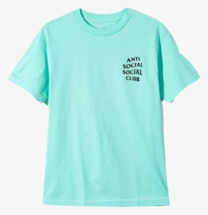 4af261e5aab1 Anti Social Social Club Logo Tee - Anti Social Social Club Turquoise Shirt