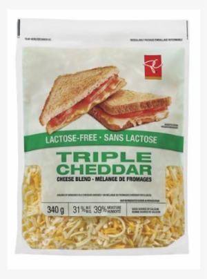 Pc Lactose-free Triple Cheddar Shredded Cheese Blend - Pc Lactose Free  Cheese 7c7e79673608