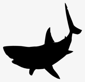 d9ac3da9ea3aa Great White Shark Clipart Jumping - Great White Shark Shark Silhouette