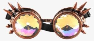 b5e4fe73f5 Retro Spiked Kaleidoscope Goggles-onelove Rave Life - Sunglasses