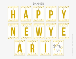 photograph regarding Happy New Year Printable named Joyful Clean Calendar year Banner PNG, Totally free High definition Joyful Refreshing Yr Banner