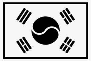 cdac034382 South Korea Flag Rubber Stamp - South Korea Flag Black And White