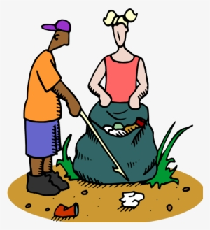 349ff808ce57 Cleaning The Beach People Clipart - Keeping The School Clean