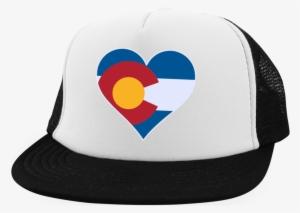 825b6857 Heart Colorado Logo Trucker Hat With Snapback Png Colorado - Cheer Mom -  Trucker Hat With