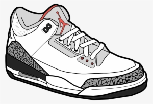 7b26adfd63a1cc Jumpman Air Jordan Shoe Sneakers Clip Art - Jordan Shoes Cartoon