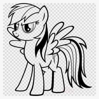 My Little Pony Coloring Rainbow Dash Clipart Rainbow My Little