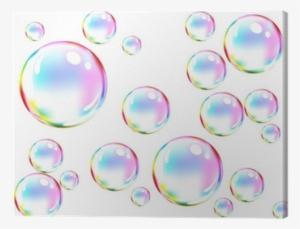 283cb4af1b56af Vector Of Colored Soap Bubbles Canvas Print • Pixers® - Soap Bubbles Drawing