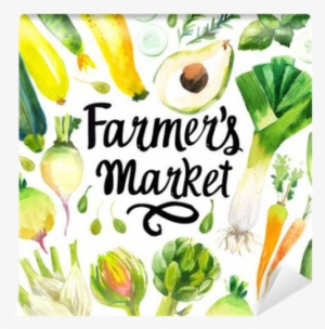 98cd5cd7f8762c Illustration With Watercolor Food - Farmers  Market