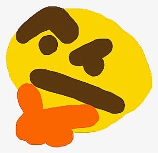 Znalezione obrazy dla zapytania thinking emoji small