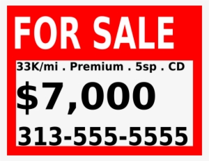 For Sale Sign PNG, Free HD For Sale Sign Transparent Image