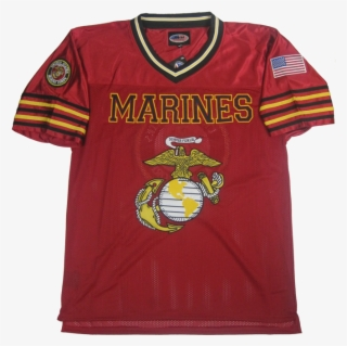 7f0fa956a5589 Marines Football Jersey With Usmc Ega Logo - Marine Corps Football Jerseys