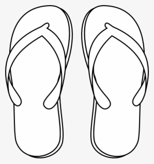 a6b343172 Drawing Of A Flip Flop - Flip Flops Clipart Black And White